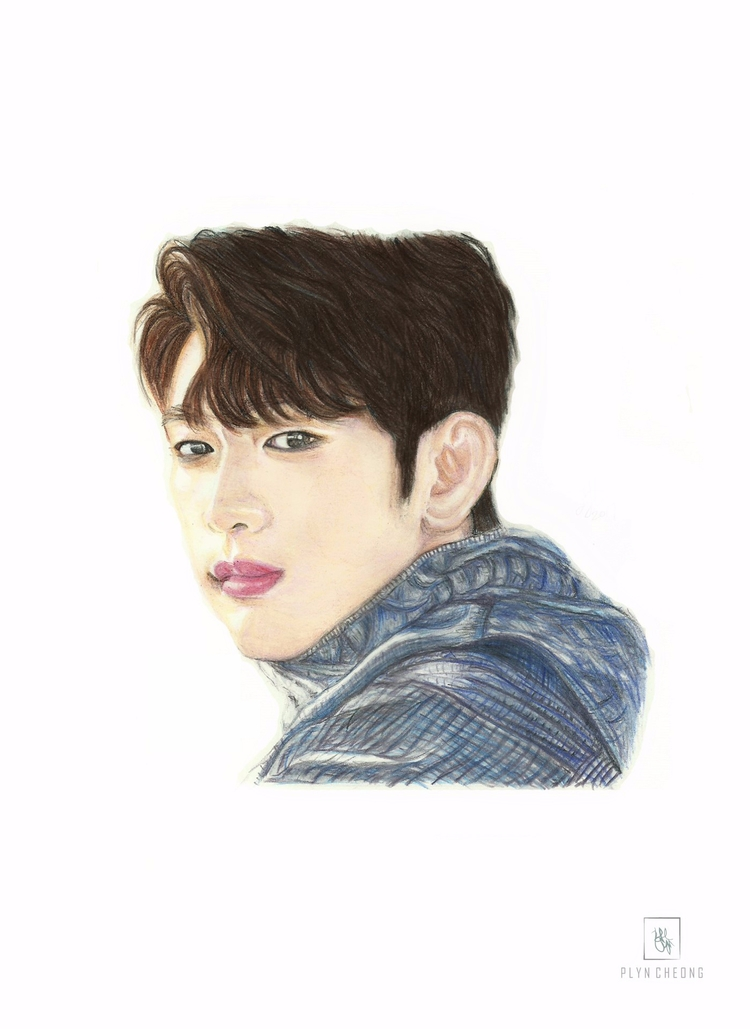 Portrait drawing - got7, jinyoung - plyncheong | ello
