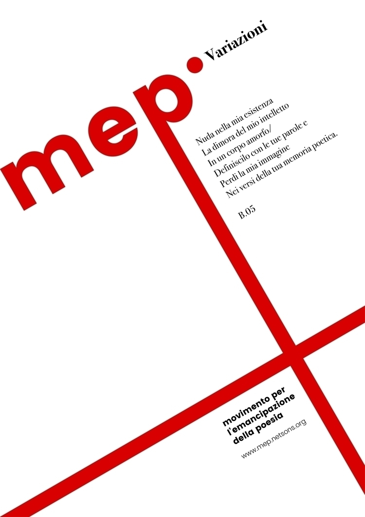 Poster study MEP (Movimento del - cosdesign | ello