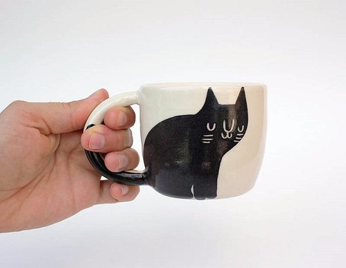 Cute quirky cat ceramics Beardb - sandraapperloo | ello