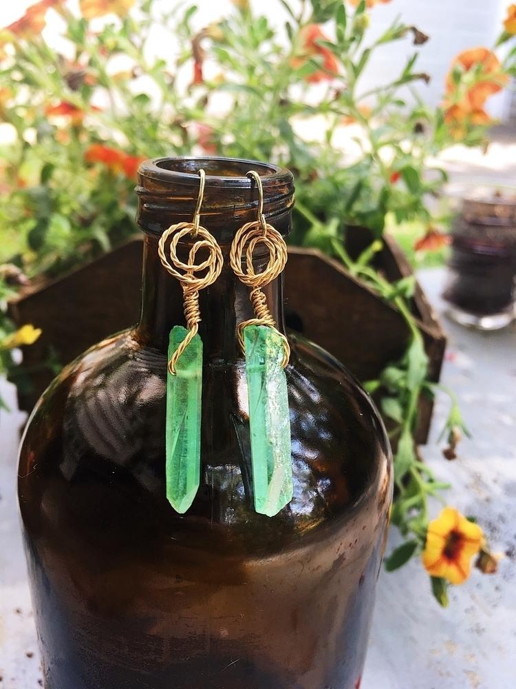 Earrings ! Check etsy shop upda - sandstonecrystals | ello