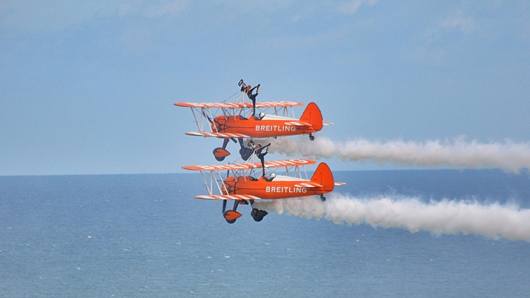 Wing Walkers Eastbourne Airshow - mrpaulanthony   ello
