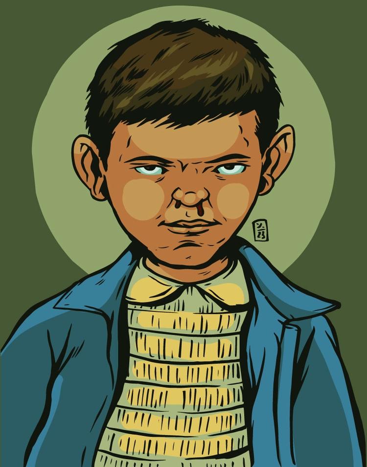 Eleven, Stranger - illustration - thomcat23 | ello