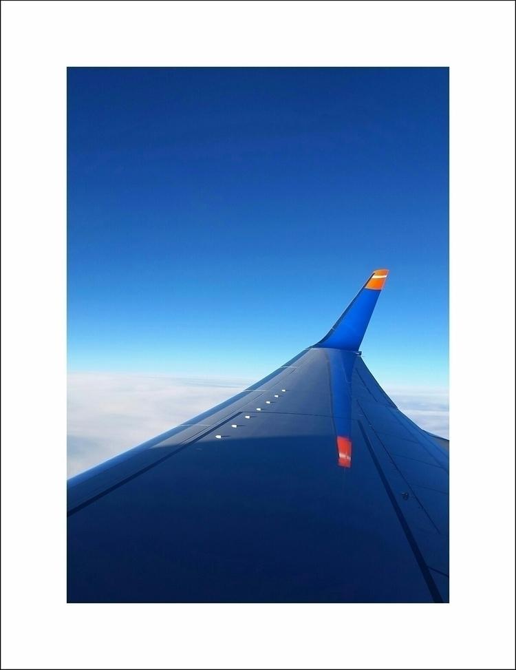 Love blue - plane, sky, clouds, simplicity - aleksaleksa | ello