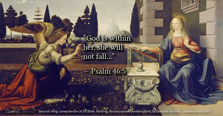 """God fall…"" — Psalm 46:5 origin - quotescosmos 