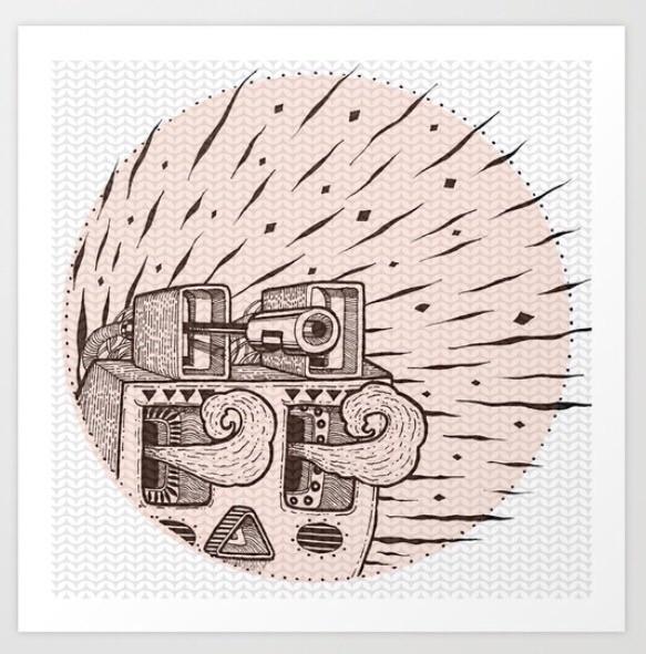 Planta art print - drawing, artprint - trinkl | ello