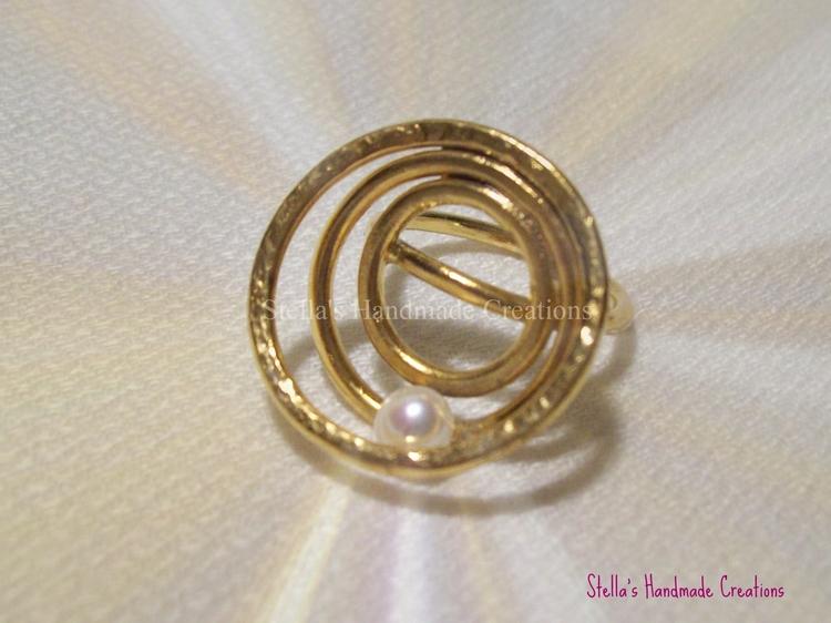 Planet Handmade gold plated bro - stellasjewelryart | ello