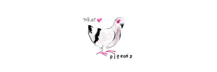 pigeonz.  - pizza, kseyes, illustrations - kseyes_illustration   ello