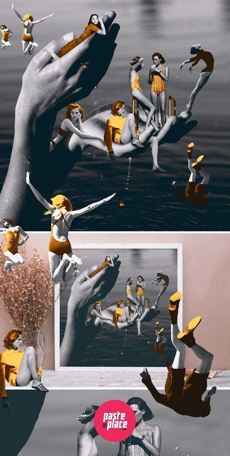 Gold - Fashion Collage artwork - pasteinplace | ello