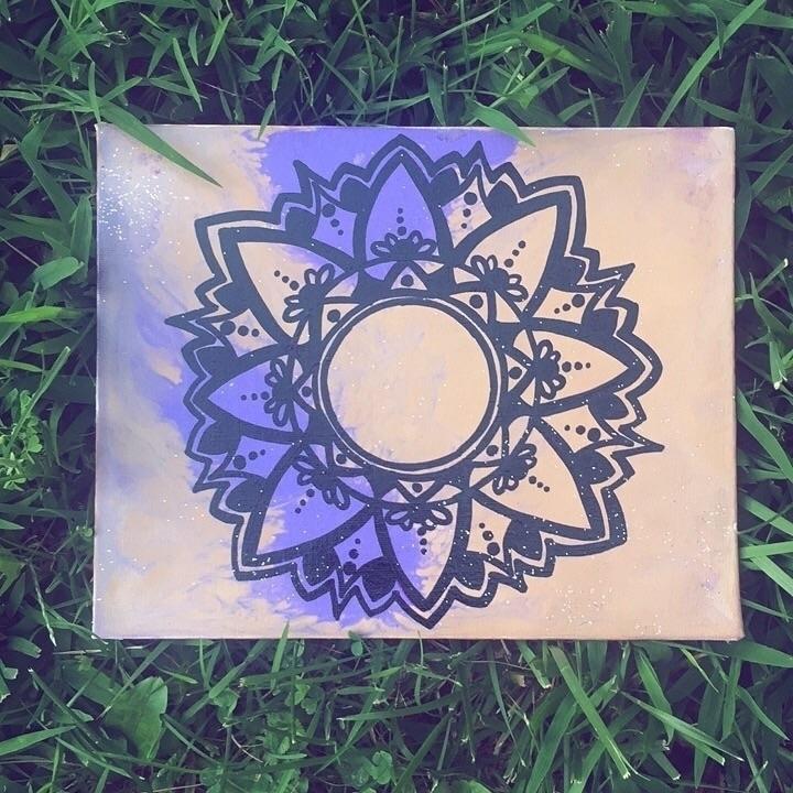 SIMPLE•  - mandala, doodles, freehand - artbykaylabraden   ello