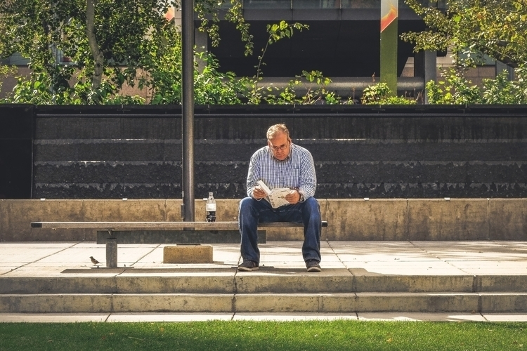 Benched - people, humans, downtown - photograthie | ello