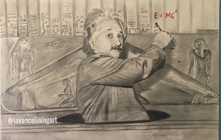 Einstein - art, drawing, sketch - lavanceliningart | ello