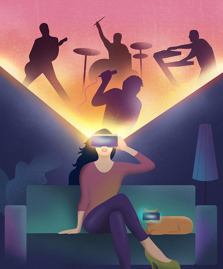 vr, virtualreality, neon, glow - filianstudio | ello
