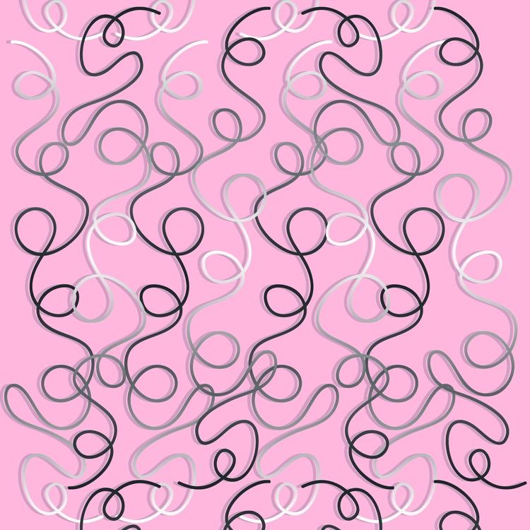 dsign - pink, curly, locks, curlylines - miideegrafiche | ello