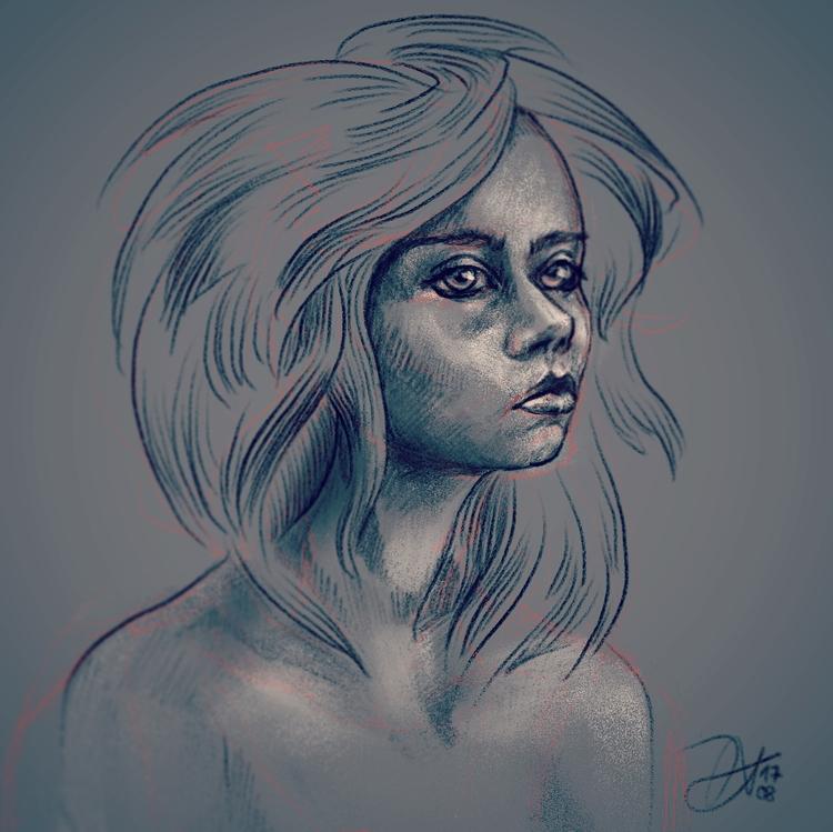 Digital Drawing // iPad Pro App - deathysmile | ello