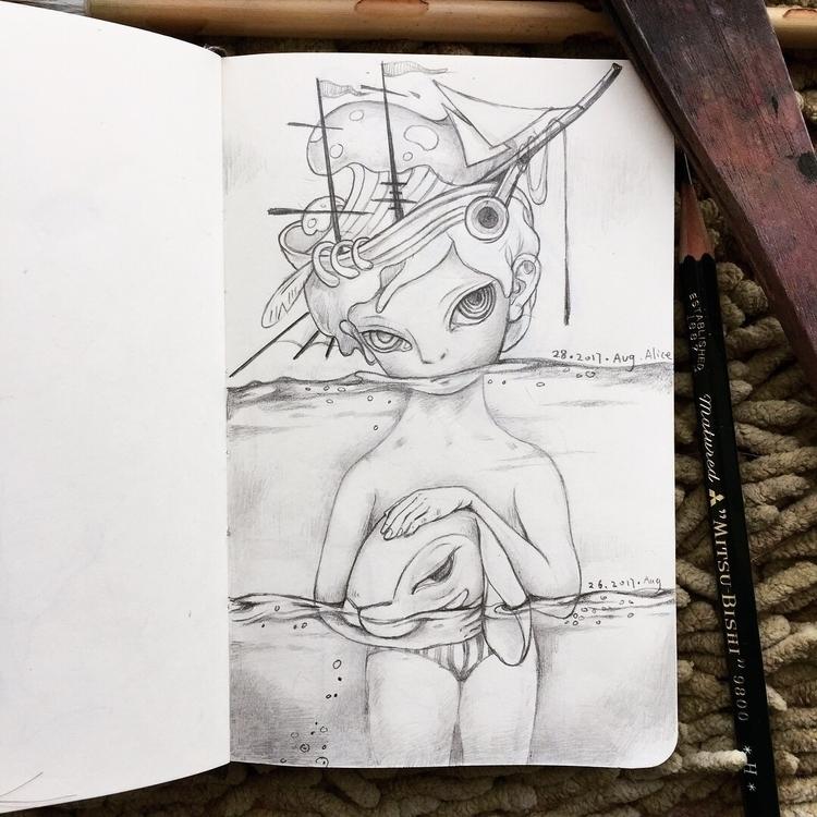 sketchbook, moleskine, sketchaday - alice_lin | ello