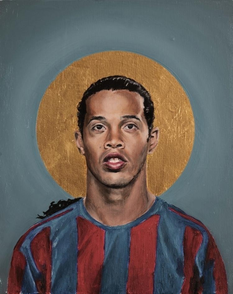 Ronaldinho Oil goldleaf pine wo - daviddiehl | ello