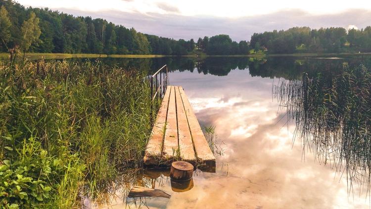 lake, sky, nature, lithuania - beheroght   ello