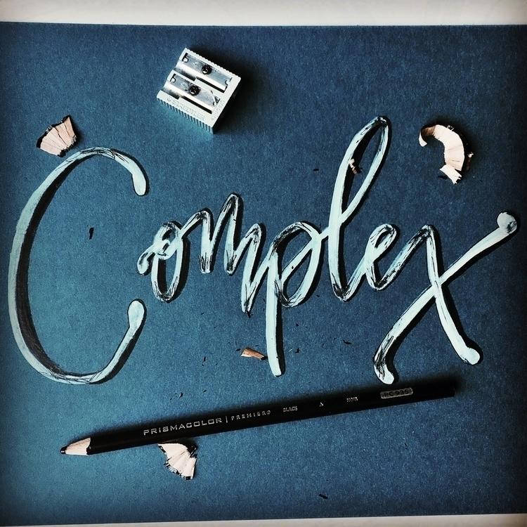 complex, design, type, lettering - chickadeedixie   ello