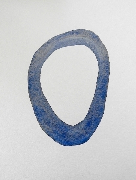 Blue Silence (1) Watercolor ink - uleedee | ello