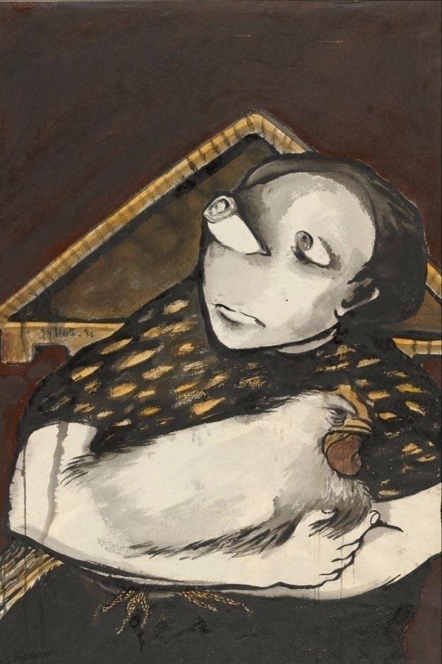 Girl hen Joy Hester 1956 - artoftheday - bitfactory | ello