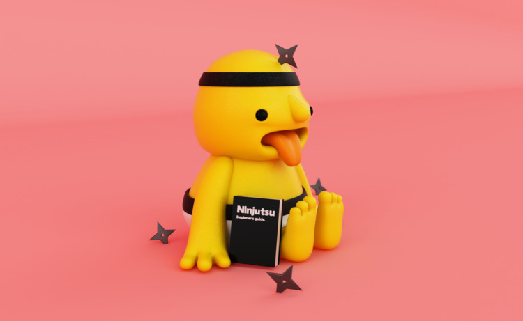 Follow  - monster, ninja, 3D, beginner - oscarasecas | ello