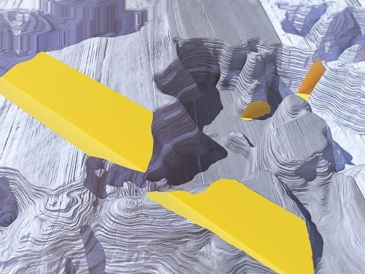 glitch, NoMansLand, 3D, Illustration - aaaronkaufman | ello