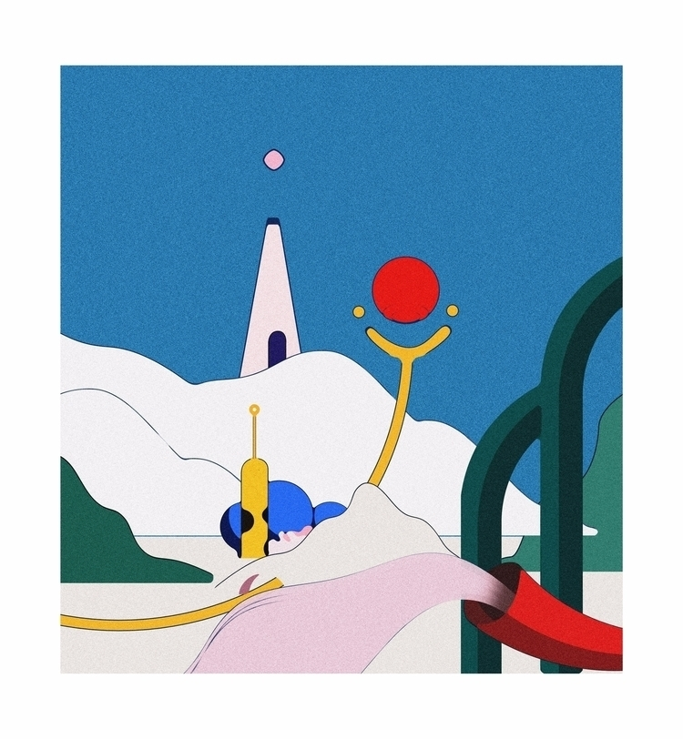 Castle, 2017 - art, illustration - esdanielbarreto | ello