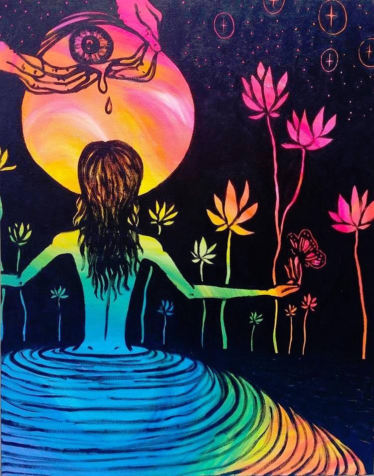Light - black, rainbow, stars, lotus - thehkexperience | ello