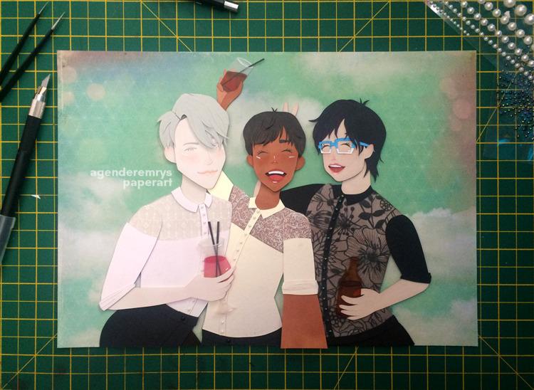 yurionice, yoi, papercraft, papercut - agenderemryspaperart | ello