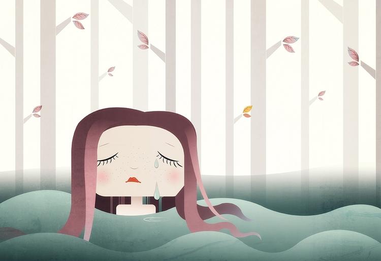 Crying river 2017 Femke Muntz - illustration - femkemuntz | ello