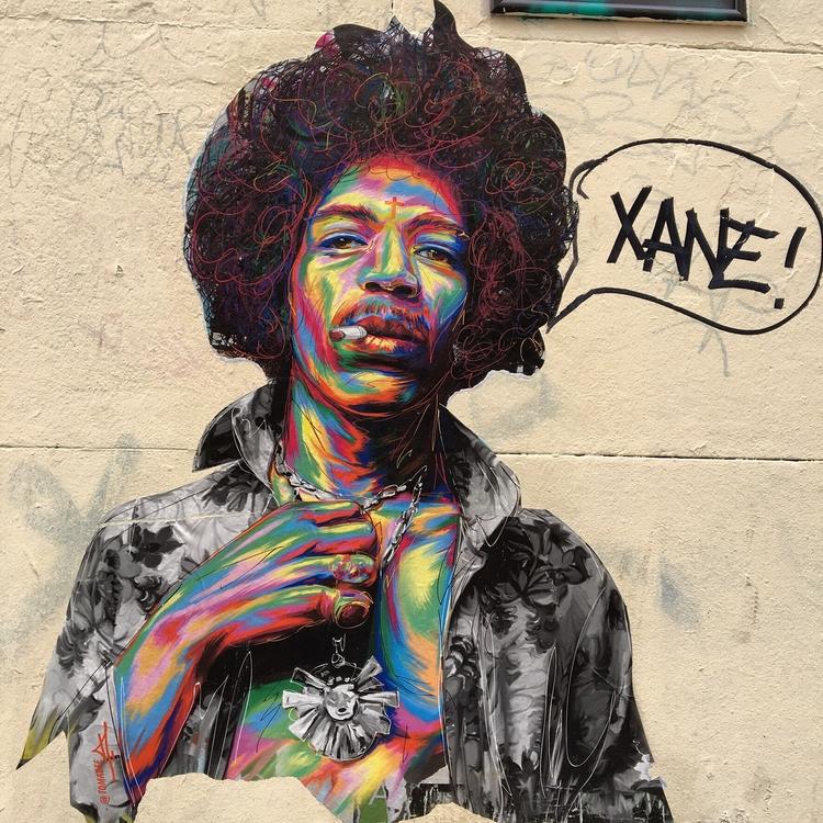 Jimi Hendrix - streetart, streetartist - philippefabry | ello