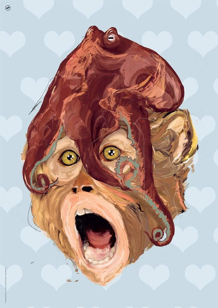 elvisbenicio, monkey, crazy, LSD - elvisbenicio | ello