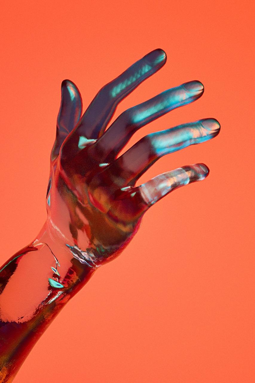 Glass, hand, illustration, 3D - aaaronkaufman | ello