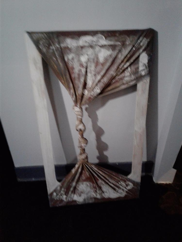 Guts Umbra, 2001. Acrylic knott - asemicwriter | ello