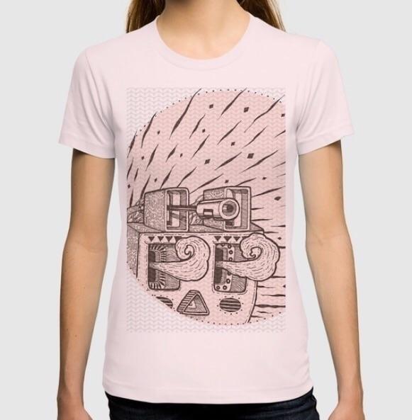 Planta woman tee - tshirt, pink - trinkl | ello