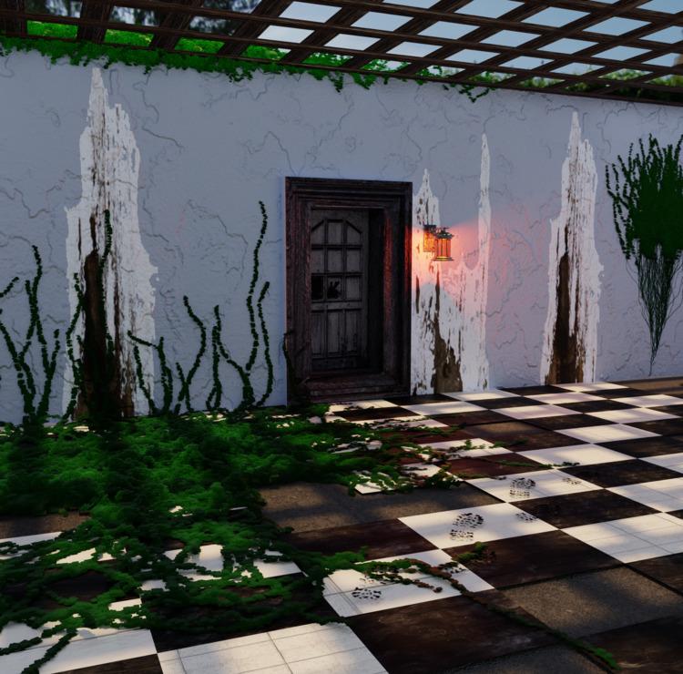 mystery, art, gameart, ivy, door - solutuminvictus | ello