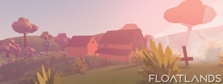 Farmers village morning - 3D, gaming - floatlands | ello