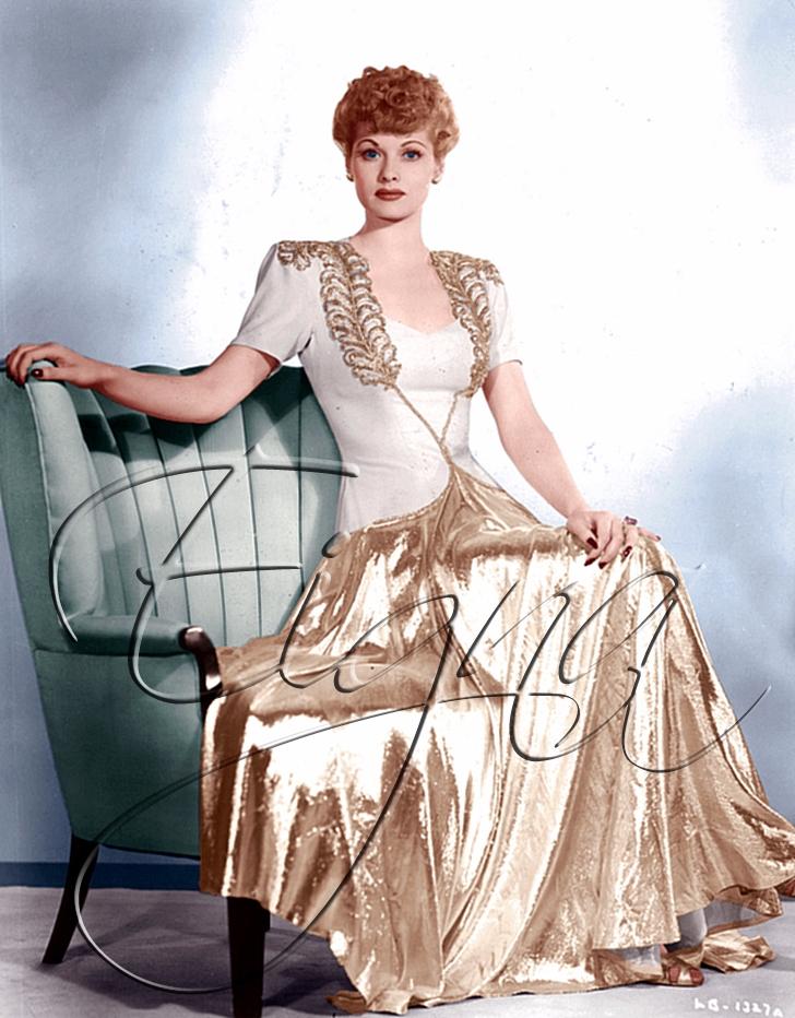 Golden Lucille Ball - colormesixwaystosunday | ello