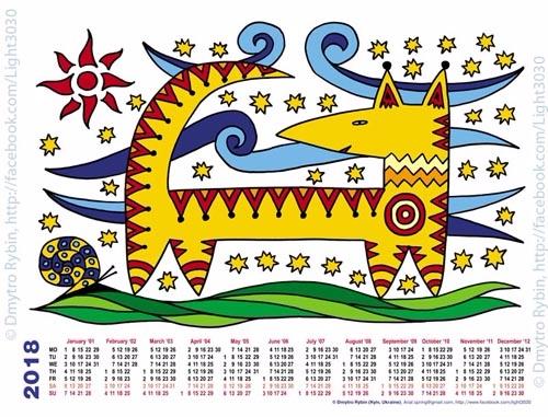 Year dog. 2018. Calendar - year - dmytroua | ello
