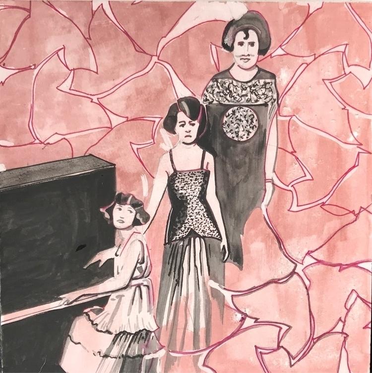 watercolor, illustration, penandink - whitneysanford | ello