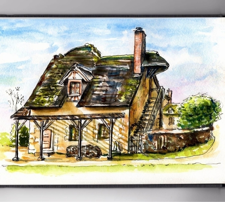 - Day 12 Favorite Building - WorldWatercolorGroup - doodlewash   ello
