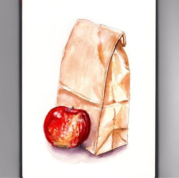 - Day 19 Favorite Lunch - WorldWatercolorGroup - doodlewash | ello