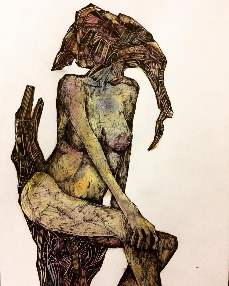 Title: Skin Tight studio - art, painting - jacobbayneartist   ello