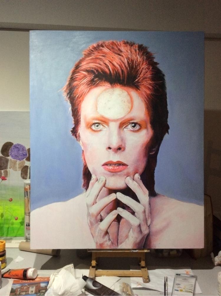 David Ziggy Stardust. Acrylic c - timlloydsmith | ello