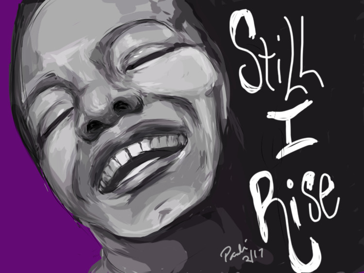 Maya Angelou drawing - iPad, design - dcartist | ello