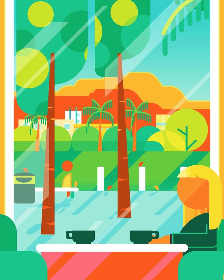 Breakfast Bilbao - illustration - bentheillustrator | ello