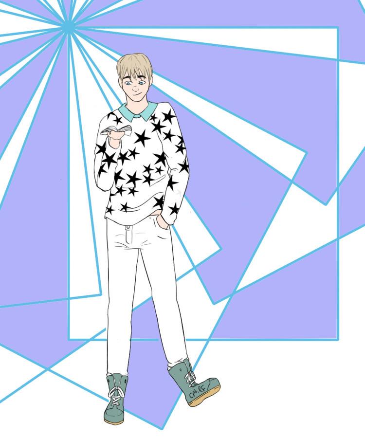 fanart nerdy RP blog, drew char - ivoryphills | ello