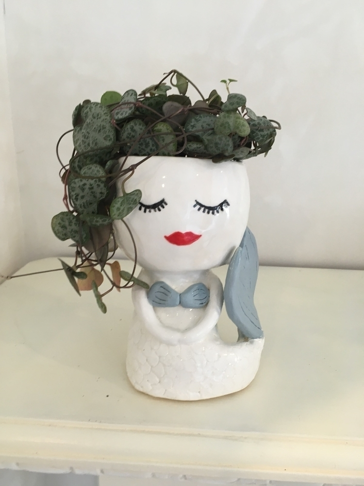 mermaid planter Etsy shop - pottery - livingdecortwins | ello