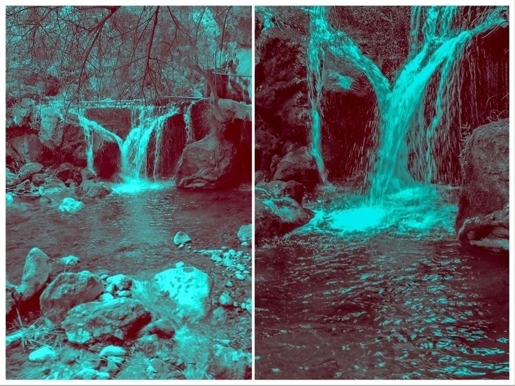 Water falls Cascading secluded  - sacrecour | ello
