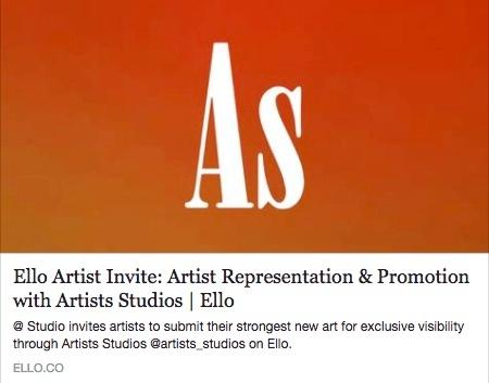 https://ello.co/artist-invites - artists_studios   ello